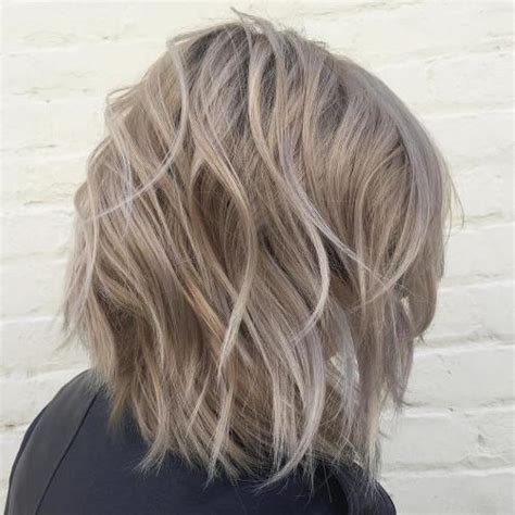 medium length dark hair with ash blonde platium high lights 60 messy bob hairstyles for your trendy casual looks