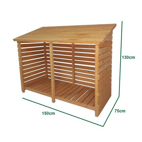 patio storage shed firewood storage shed for wood burner log store slatted