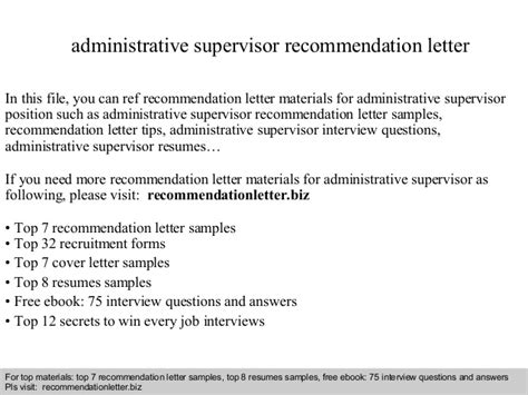 ideas of example reference letter from supervisor cover letter