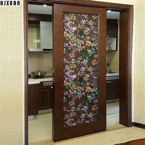 sliding glass door tint decal decorative window sunscreen 80x100cm pvc self