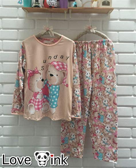 Baby Doll Piyama Baju Tidur Celana Panjang 6733 Cp jual baju tidur setelan panjang piyama sleepwear lucu teddy baby doll yuphoria shop