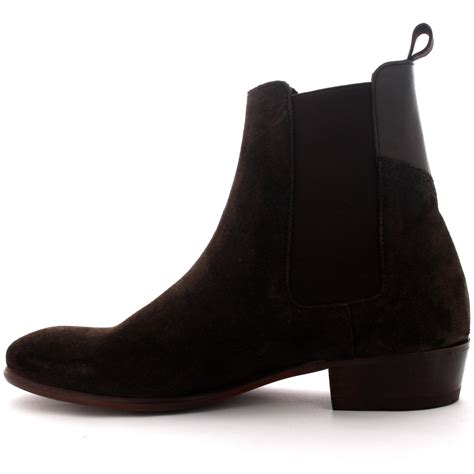 mens black suede chelsea boots uk mens h by hudson watts suede black pull on casual ankle