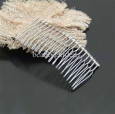How To Make Vire Teeth Out Of Paper - 20 tooth twist wire metal silver hair comb wedding bridal