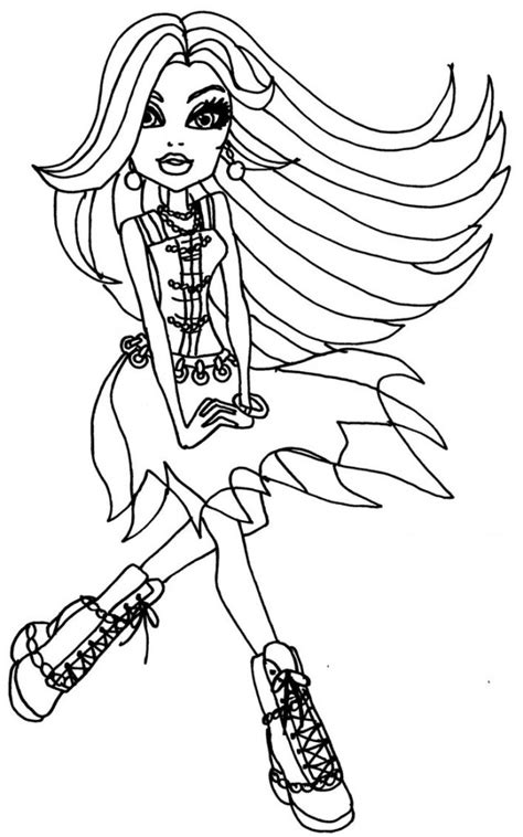 Free Printable Monster High Coloring Pages For Kids Coloring Sheets For High Printable