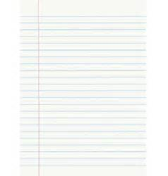 sle notebook paper notebook paper with lines royalty free vector image