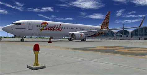 batik air flight simulator x boeing 737 900er batik air skyxreborn