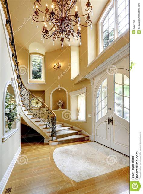 Split Entry House Plans luxury house interior entrance hallway stock image