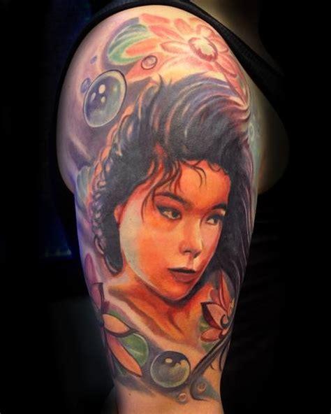 bjork tattoo by brandon heffron beloved studios