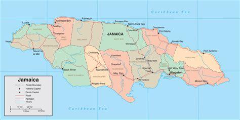 map of america showing jamaica map of jamaica jamaica maps mapsof net