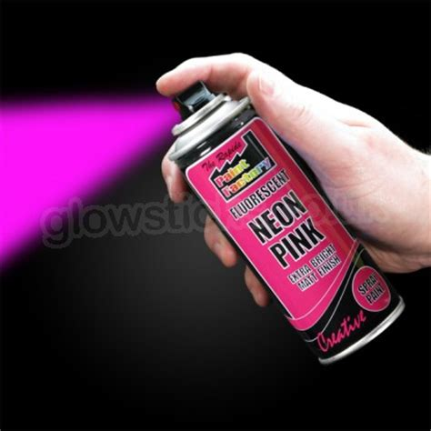 neon glow in the spray paint uv reactive neon spray paint uv neon glowsticks co uk