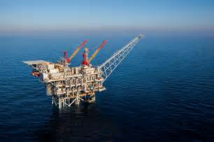 Tamar the natural gas production platform off the israeli coast is