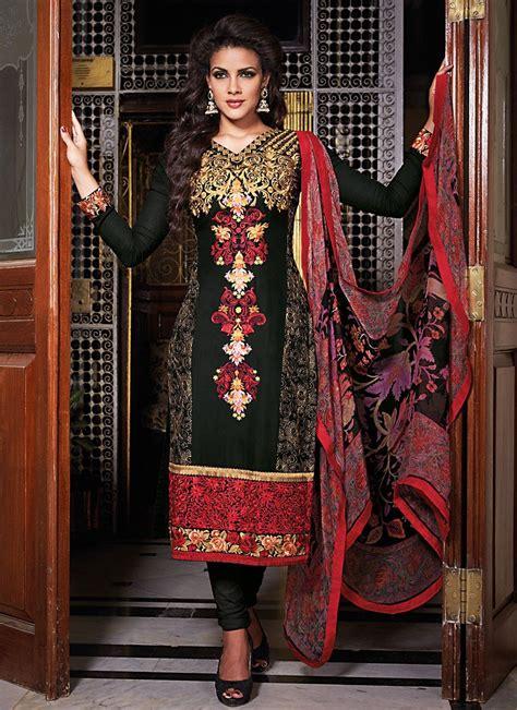 Shalwar Kamaaz Baju India 67 attractive black salwar kameez