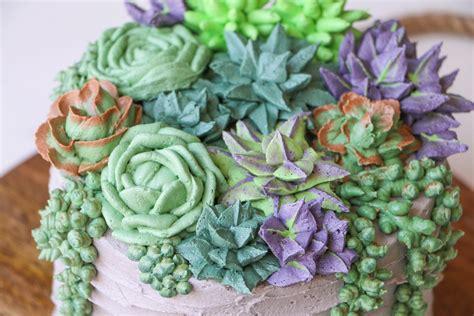 Flower Arrangement Ideas by Succulent Cake Buttercream Piping Tutorial