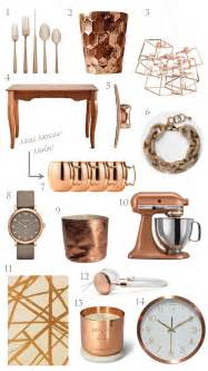 Copper Home Decor by Trending Copper Rose Gold Home Decor For The Home