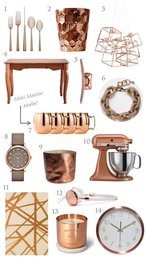 trending copper gold home decor junk drawer