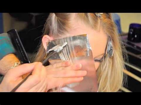 where to place foils partial highlight blonding base enhancement youtube