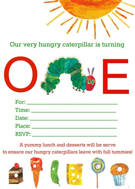 Very Hungry Caterpillar Free Printables B Lovely Events Hungry Caterpillar Birthday Invitation Template