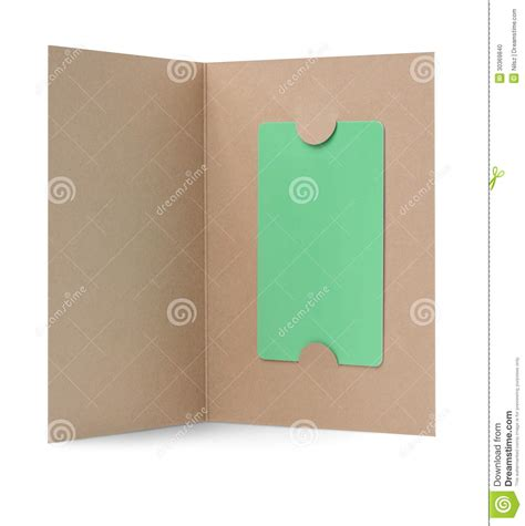Gift Card Paper - blank gift card in paper cover stock photo image 30369840