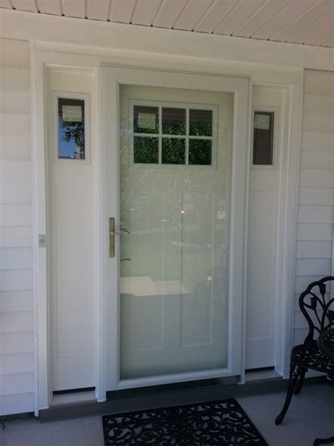 Impact Resistant Front Doors Smooth Fiberglass Craftsman Style Entrance Door With Sidelights And Secure Elegance Impact