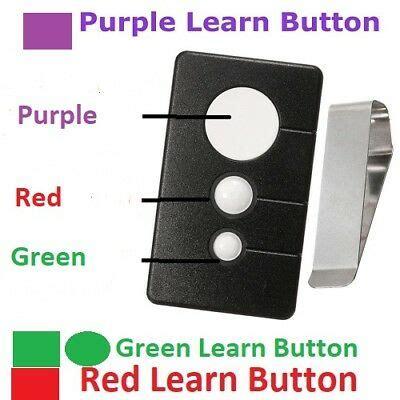 craftsman garage door opener visor remote control red