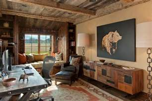 rustic credenza home office traditional with window seat