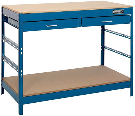 Steel Workbenches With Drawers by Draper 40940 Wb1220 Steel Workbench With Two Drawers