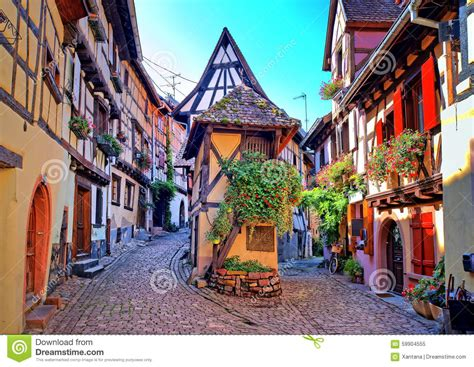 French European House Plans eguisheim alsace france stock photo image 59904555