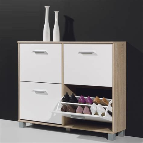 modern shoe storage cabinet modern shoe storage cabinet in canadian oak and white 15553
