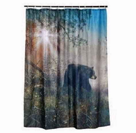 black bear shower curtains black bear shower curtain set cabin hunting outdoor