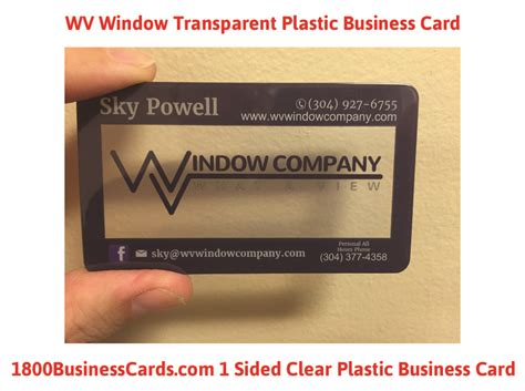 clear plastic business card templates plastic business card of the week wv window the printing