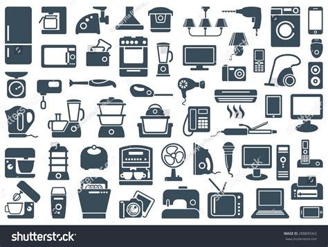 Logo Toaster Household Appliances Icons Stock Vector 288899363