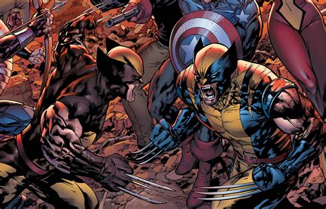 captain america vs wolverine wallpaper wolverine daken vs batman dick vs captain america bucky