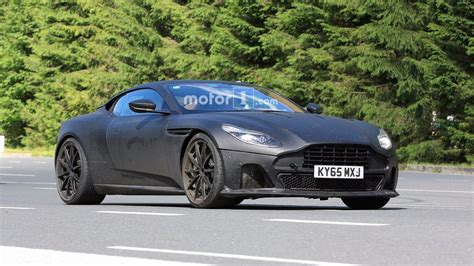 aston martin matte black aston martin db11 s spied with matte black lower