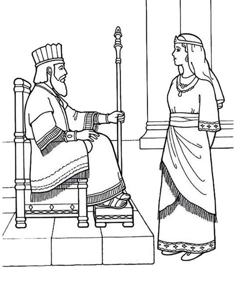 coloring pages esther queen bible 54 best bible esther images on pinterest