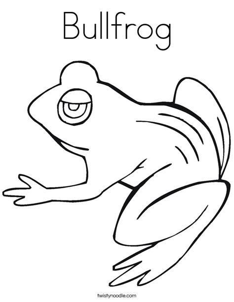 Bullfrog Coloring Page bullfrog coloring page twisty noodle