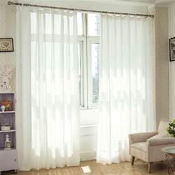 Solid privacy sheer curtains keep room privacy
