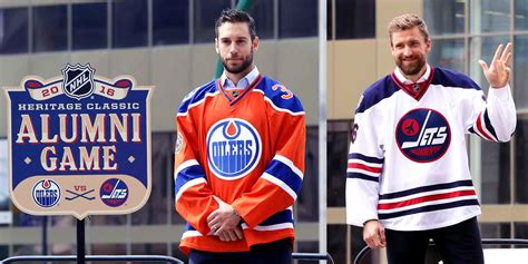 heritage uniforms and jerseys jets oilers heritage classic jerseys unveiled