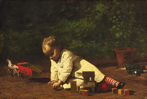 painting play baby at play painting by eakins