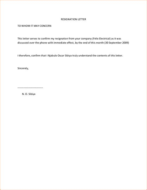 Immediate Resignation Letter Effective Immediately 4 Resignation Letter Sle Effective Immediately Budget Template Letter