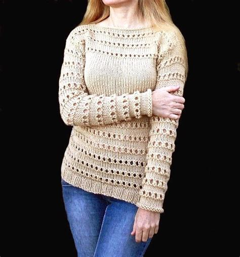 Handmade Sweater Patterns - items similar to beige sweater knit sweater