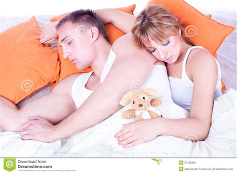 couples in bed couple in bed sleeping stock image image 27155661