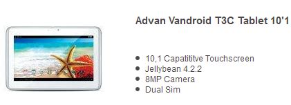 Tablet Advan Kamera 8mp 7 harga tablet advan vandroid 1 jutaan terpopuler