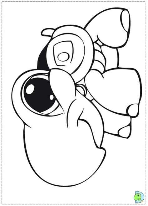 free coloring pages of littlest pet shop collie