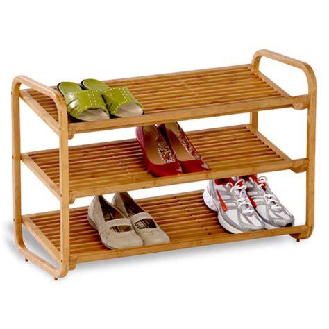 bamboo shoe rack 3 tier in shoe racks