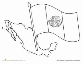 mexican flag coloring page mexican flag worksheet education