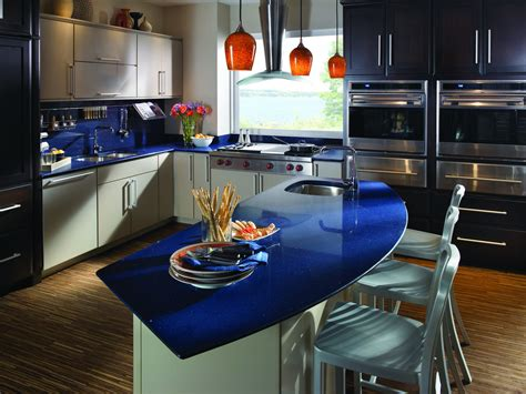 Blue Kitchen Countertops Bold Greens Blues For Your Kitchen