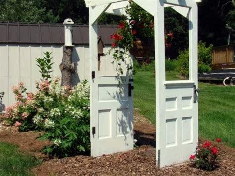 Garden Arbor With Door Snazzy Re Purposed Garden Arches Flea Market