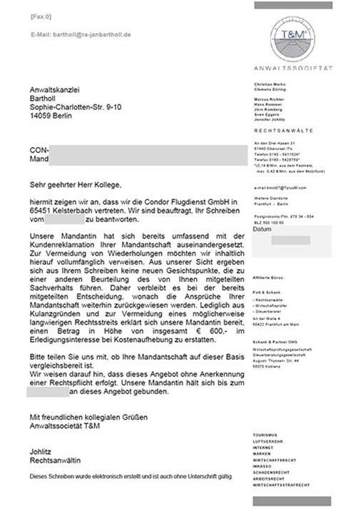 Beschwerdebrief Englisch Musterschreiben Flugversp 228 Tung Fluggastrechte