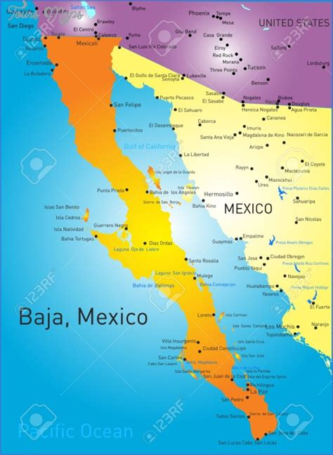 baja map mexico maps of baja california mexico toursmaps