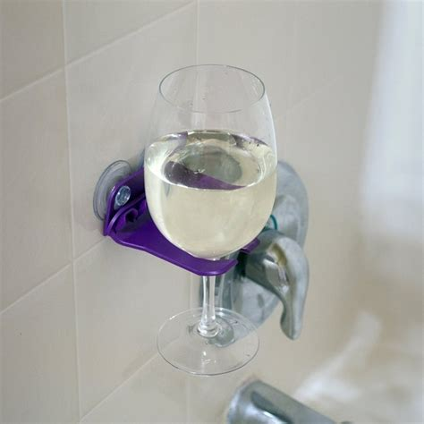 bathroom wine glass holder 27 things you need to up your shower game